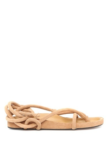 Etoile Isabel Marant Isabel Marant  İp Detaylı Kadın Deri Sandalet 101507685 Taba